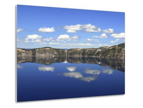Crater Lake Reflections, Crater Lake National Park, Oregon, USA-Michel Hersen-Metal Print