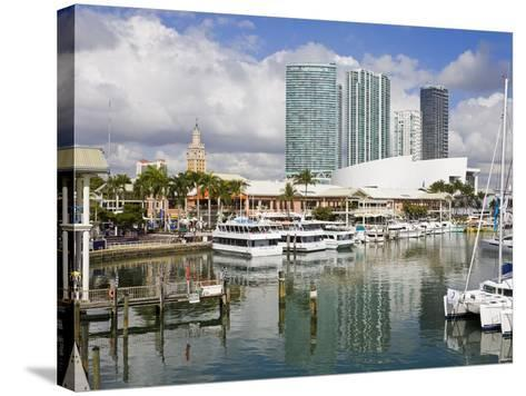 Bayside Marketplace and Marina, Miami, Florida, United States of America, North America-Richard Cummins-Stretched Canvas Print