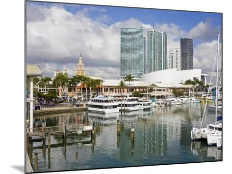 Bayside Marketplace and Marina, Miami, Florida, United States of America, North America-Richard Cummins-Mounted Photographic Print