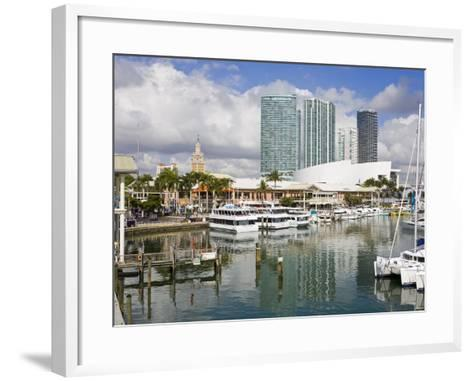 Bayside Marketplace and Marina, Miami, Florida, United States of America, North America-Richard Cummins-Framed Art Print