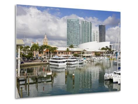 Bayside Marketplace and Marina, Miami, Florida, United States of America, North America-Richard Cummins-Metal Print