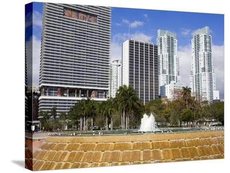 Fountain in Bayfront Park, Miami, Florida, United States of America, North America-Richard Cummins-Stretched Canvas Print