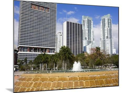 Fountain in Bayfront Park, Miami, Florida, United States of America, North America-Richard Cummins-Mounted Photographic Print