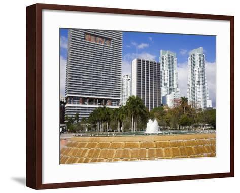 Fountain in Bayfront Park, Miami, Florida, United States of America, North America-Richard Cummins-Framed Art Print