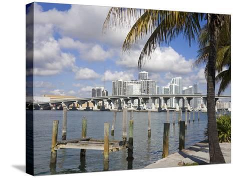Miami Skyline, Florida, United States of America, North America-Richard Cummins-Stretched Canvas Print