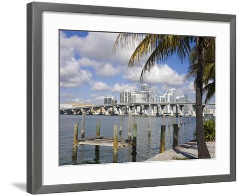 Miami Skyline, Florida, United States of America, North America-Richard Cummins-Framed Art Print