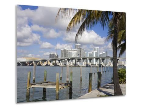 Miami Skyline, Florida, United States of America, North America-Richard Cummins-Metal Print