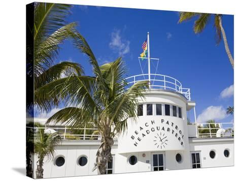 Beach Patrol Headquarters on South Beach, City of Miami Beach, Florida, USA, North America-Richard Cummins-Stretched Canvas Print
