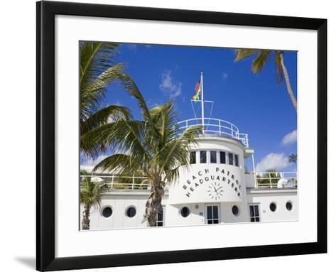 Beach Patrol Headquarters on South Beach, City of Miami Beach, Florida, USA, North America-Richard Cummins-Framed Art Print