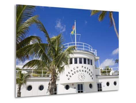 Beach Patrol Headquarters on South Beach, City of Miami Beach, Florida, USA, North America-Richard Cummins-Metal Print