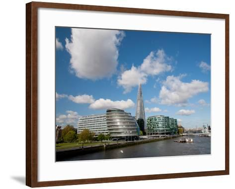 View of the Shard, City Hall and More London Along the River Thames, London, England, UK-Adina Tovy-Framed Art Print