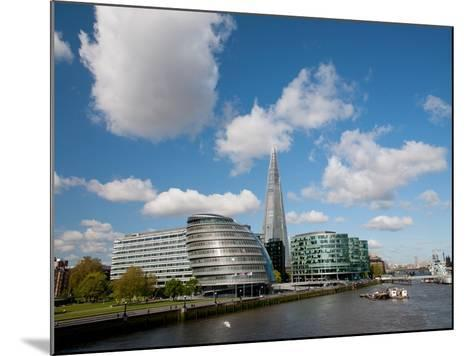 View of the Shard, City Hall and More London Along the River Thames, London, England, UK-Adina Tovy-Mounted Photographic Print