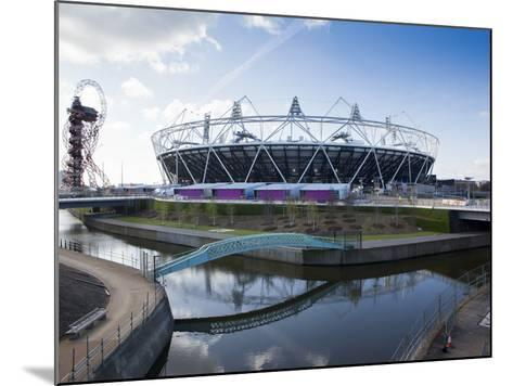 The Olympic Stadium with the Arcelor Mittal Orbit and the River Lee, London, England, UK-Mark Chivers-Mounted Photographic Print