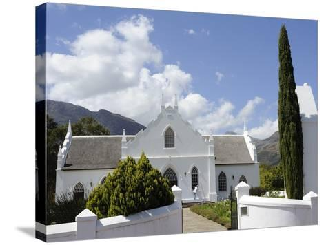 Dutch Reformed Church Dating from 1841, Franschhoek, the Wine Route, Cape Province, South Africa-Peter Groenendijk-Stretched Canvas Print