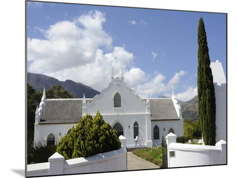 Dutch Reformed Church Dating from 1841, Franschhoek, the Wine Route, Cape Province, South Africa-Peter Groenendijk-Mounted Photographic Print