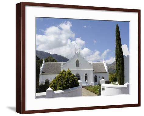 Dutch Reformed Church Dating from 1841, Franschhoek, the Wine Route, Cape Province, South Africa-Peter Groenendijk-Framed Art Print