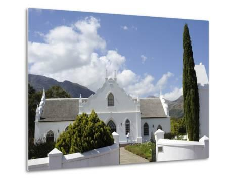 Dutch Reformed Church Dating from 1841, Franschhoek, the Wine Route, Cape Province, South Africa-Peter Groenendijk-Metal Print