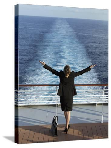 Business Woman on a Cruise Ship, Nassau, Bahamas, West Indies, Caribbean, Central America-Angelo Cavalli-Stretched Canvas Print