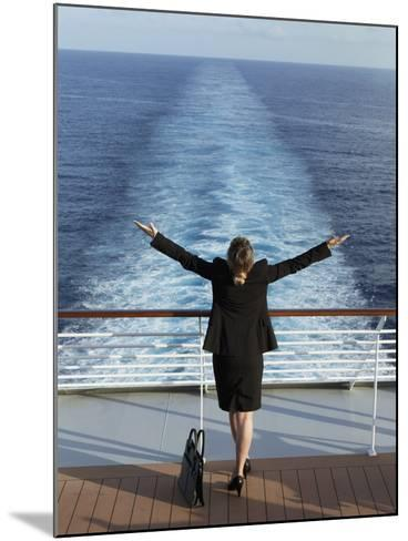 Business Woman on a Cruise Ship, Nassau, Bahamas, West Indies, Caribbean, Central America-Angelo Cavalli-Mounted Photographic Print