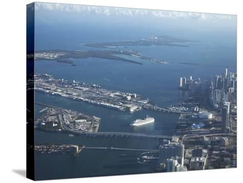 Aerial View of Miami, Florida, United States of America, North America-Angelo Cavalli-Stretched Canvas Print