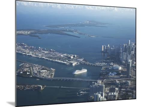 Aerial View of Miami, Florida, United States of America, North America-Angelo Cavalli-Mounted Photographic Print