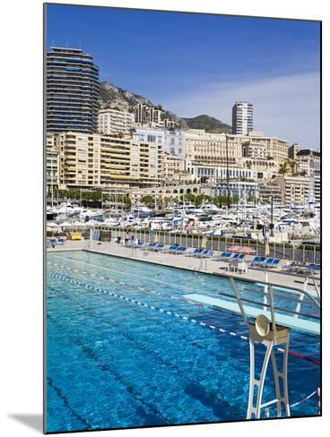 Swimming Pool in La Condamine Area, Monte Carlo, Monaco, Mediterranean, Europe-Richard Cummins-Mounted Photographic Print