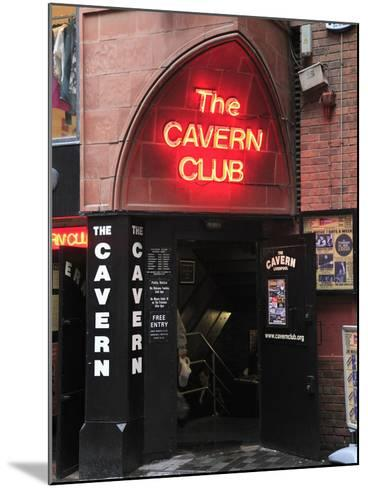 Cavern Club, Mathew Street, Liverpool, Merseyside, England, United Kingdom, Europe-Wendy Connett-Mounted Photographic Print