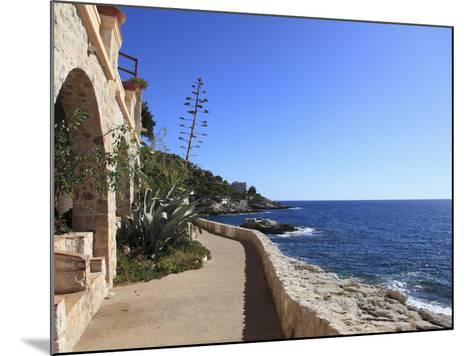 Coastal Path, Cap D'Ail, Cote D'Azur, Provence, French Riviera, Mediterranean, France, Europe-Wendy Connett-Mounted Photographic Print