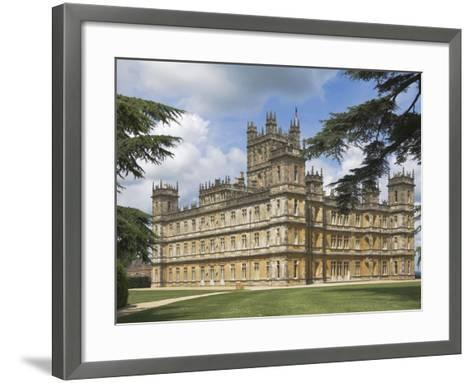 Highclere Castle, Home of Earl of Carnarvon, Location for BBC's Downton Abbey, Hampshire, England-James Emmerson-Framed Art Print