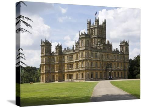 Highclere Castle, Home of Earl of Carnarvon, Location for BBC's Downton Abbey, Hampshire, England-James Emmerson-Stretched Canvas Print