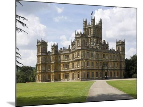 Highclere Castle, Home of Earl of Carnarvon, Location for BBC's Downton Abbey, Hampshire, England-James Emmerson-Mounted Photographic Print