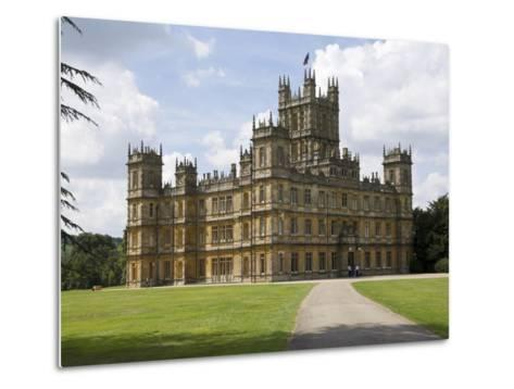 Highclere Castle, Home of Earl of Carnarvon, Location for BBC's Downton Abbey, Hampshire, England-James Emmerson-Metal Print