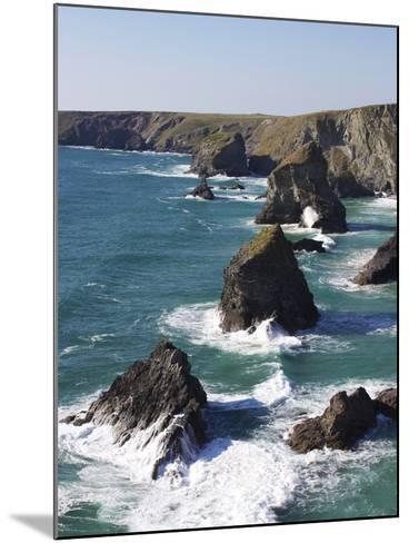 Bedruthan Steps, Cornwall, England, United Kingdom, Europe-Jeremy Lightfoot-Mounted Photographic Print