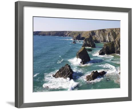 Bedruthan Steps, Cornwall, England, United Kingdom, Europe-Jeremy Lightfoot-Framed Art Print