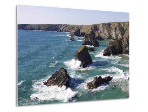 Bedruthan Steps, Cornwall, England, United Kingdom, Europe-Jeremy Lightfoot-Metal Print
