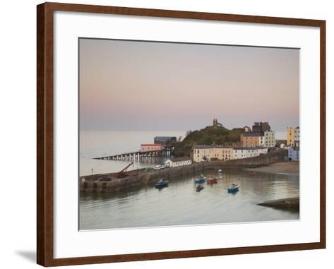 Tenby Harbour, Tenby, Pembrokeshire, Wales, United Kingdom, Europe-Billy Stock-Framed Art Print