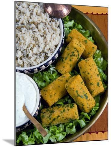 Mercimek Koftesi, Vegetarian Balls with Lentils, Turkish Food, Turkey, Eurasia-Nico Tondini-Mounted Photographic Print