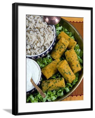 Mercimek Koftesi, Vegetarian Balls with Lentils, Turkish Food, Turkey, Eurasia-Nico Tondini-Framed Art Print