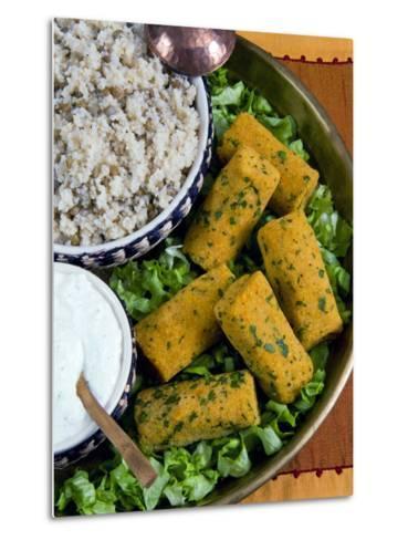 Mercimek Koftesi, Vegetarian Balls with Lentils, Turkish Food, Turkey, Eurasia-Nico Tondini-Metal Print
