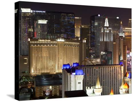 Elevated View of Casinos on the Strip at Night, Las Vegas, Nevada, USA, North America-Gavin Hellier-Stretched Canvas Print