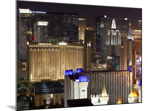 Elevated View of Casinos on the Strip at Night, Las Vegas, Nevada, USA, North America-Gavin Hellier-Mounted Photographic Print