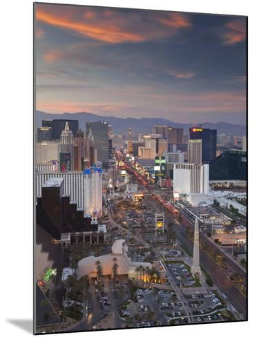Elevated View of the Hotels and Casinos Along the Strip at Dusk, Las Vegas, Nevada, USA-Gavin Hellier-Mounted Photographic Print