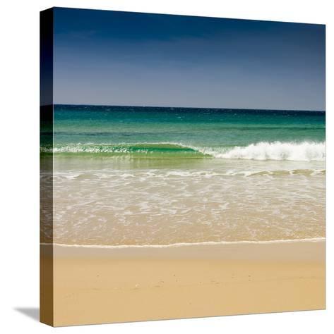 Small Wave, Los Lances Beach, Tarifa, Andalucia, Spain, Europe-Giles Bracher-Stretched Canvas Print