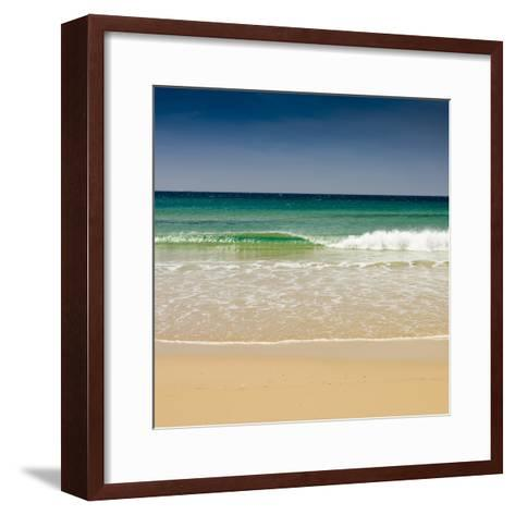 Small Wave, Los Lances Beach, Tarifa, Andalucia, Spain, Europe-Giles Bracher-Framed Art Print