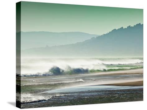 Storm Force Levante Winds Blowing Tops of Waves, Estrecho Natural Park, Los Lanses Beach, Spain-Giles Bracher-Stretched Canvas Print
