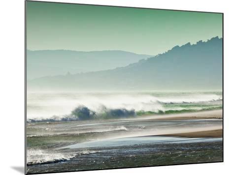 Storm Force Levante Winds Blowing Tops of Waves, Estrecho Natural Park, Los Lanses Beach, Spain-Giles Bracher-Mounted Photographic Print
