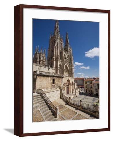 Burgos Cathedral, Burgos, Castilla Y Leon, Spain, Europe-Giles Bracher-Framed Art Print
