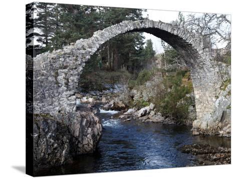 Old Packhorse Bridge Near Forres, Morayshire, Scotland, United Kingdom, Europe-David Lomax-Stretched Canvas Print