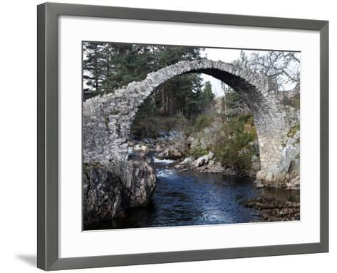 Old Packhorse Bridge Near Forres, Morayshire, Scotland, United Kingdom, Europe-David Lomax-Framed Art Print