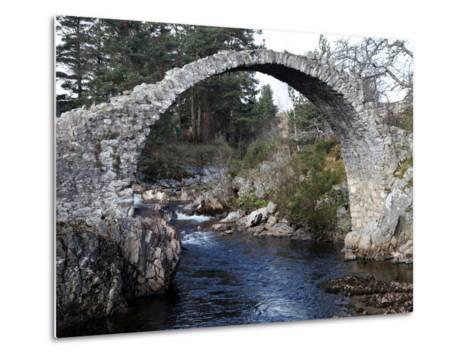 Old Packhorse Bridge Near Forres, Morayshire, Scotland, United Kingdom, Europe-David Lomax-Metal Print